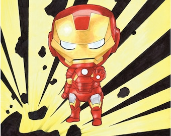 Iron Man Chibi Avenger Art Print