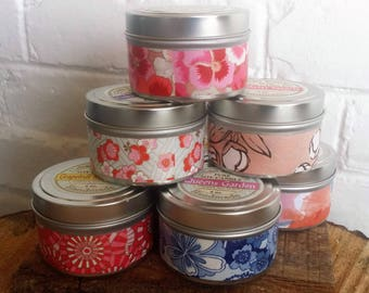 Cinnamon Strudel Soy Candle  Tin  6 oz., soy candle, holiday candle, candle tin, cinnamon scent
