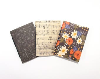 Travelers Notebook Inserts, Floral Bullet Journals, Fauxdori TN Inserts, Passport Pocket Personal B6 Slim Standard B6 Cahier Extra Wide Size