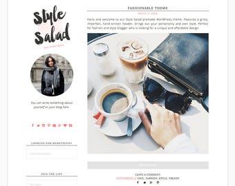 "Wordpress Theme Responsive Blog Design ""Style Salad"" - Stylish and Edgy"