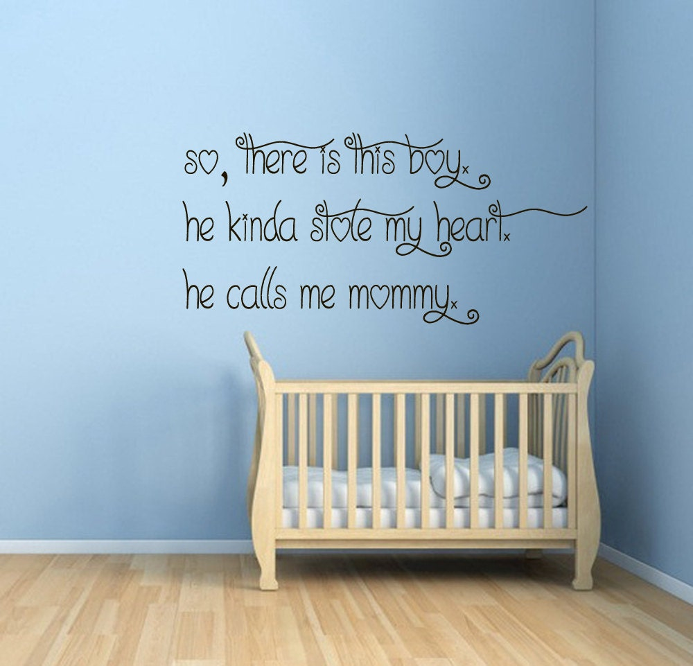 Love Wall Quotes Love Wall Decals Quotes This Boy Stole My Heart He Calls Me