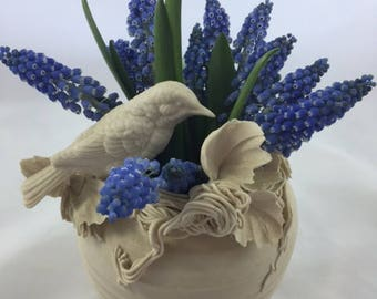 Bisque Spring Sculpture/Vase