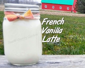 French Vanilla Latte Soy Candle in 16 oz Jar