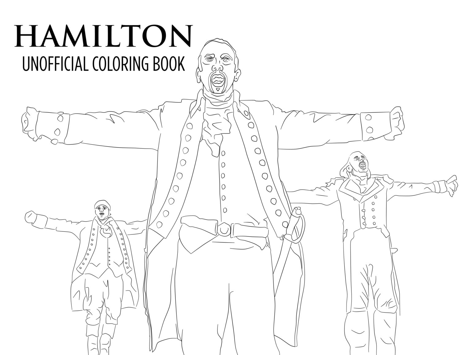 Hamilton Coloring Book Printable Download Unofficial Broadway