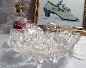 Sparkling Glass Bowl Mid 1940