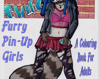 Furry Pin-Up Girls Coloring Book
