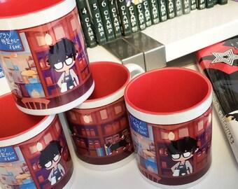 Persona 5 Cafe Leblanc 11oz Coffee Mug Cup Anime Joker Akira Morgana Game
