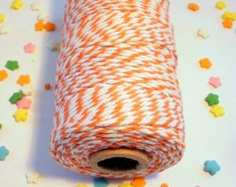 Thick Bakers Twine Orange - 100 yard Spool - 12 ply