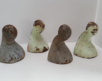 Vintage Cast Iron Bathtub Feet Lot of 4 Architectural Salvage