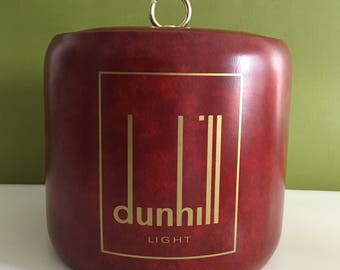 Vintage Padded Red Dunhill Ice Bucket