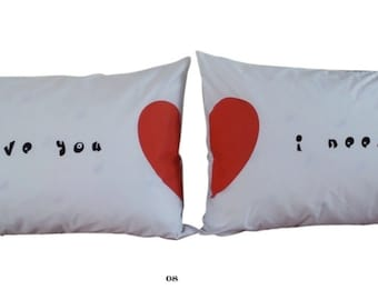 Set of 2 I love you  I need you Pillowcases Super Soft Pillowcases-romantic Valentines Gifts for Couples Cute Valentines Day Gift Ideas