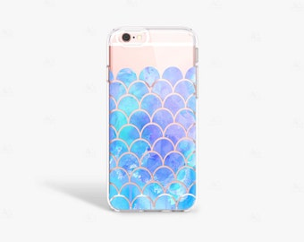 Blue iPhone 8 Case, Mermaid iPhone Cases, Blue iPhone 7 Case, Blue iPhone 7 Plus Case, Blue iPhone 8 Plus Case, iPhone 8 Case Silicone