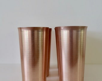 "A Set of 6 Pink Vintage ""West Bend"" Aluminum Tumblers"