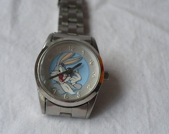 Bugs Bunny Wrist Watch Women's Vintage, Quartz Wrist Watch, Womens Wrist Watch, Bugs Bunny Gifts, Warner Brother's Carton Bugs Bunny