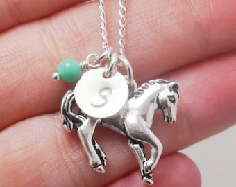 Horse Necklace, Pony necklace, Horse Charm Necklace, Horse Lover Gift, Horse Lover Necklace,Gift for Horse Lover, Horse Lady Gifts, CDCB