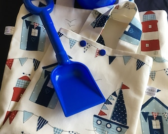 Nautical project bag - knitting crochet sewing