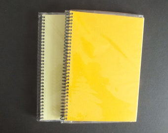 2 A5 Handmade Scrapbook Photo Album Yellow Card covers White pages Portrait