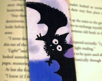 Vampire Bat Illustration Laminated Bookmark - Strigoi the Vampire Bat