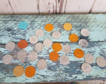 Mardi Grad Money or Doubloons From the 70s - 25 Large Coins From New Orleans, Kings + Queens, Daughter if Eve, Coin Olympus, Parade Souvenir