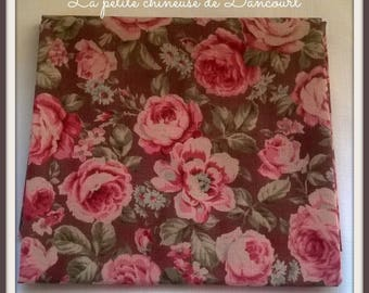 Antique small pink roses Lecien fabric coupon
