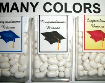 28 GRADUATION PARTY favors personalized Tic Tac Labels with your choice of colors