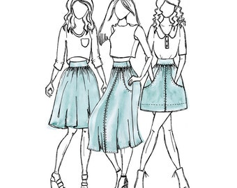 Brumby Skirt Paper Pattern- Megan Nielsen Patterns