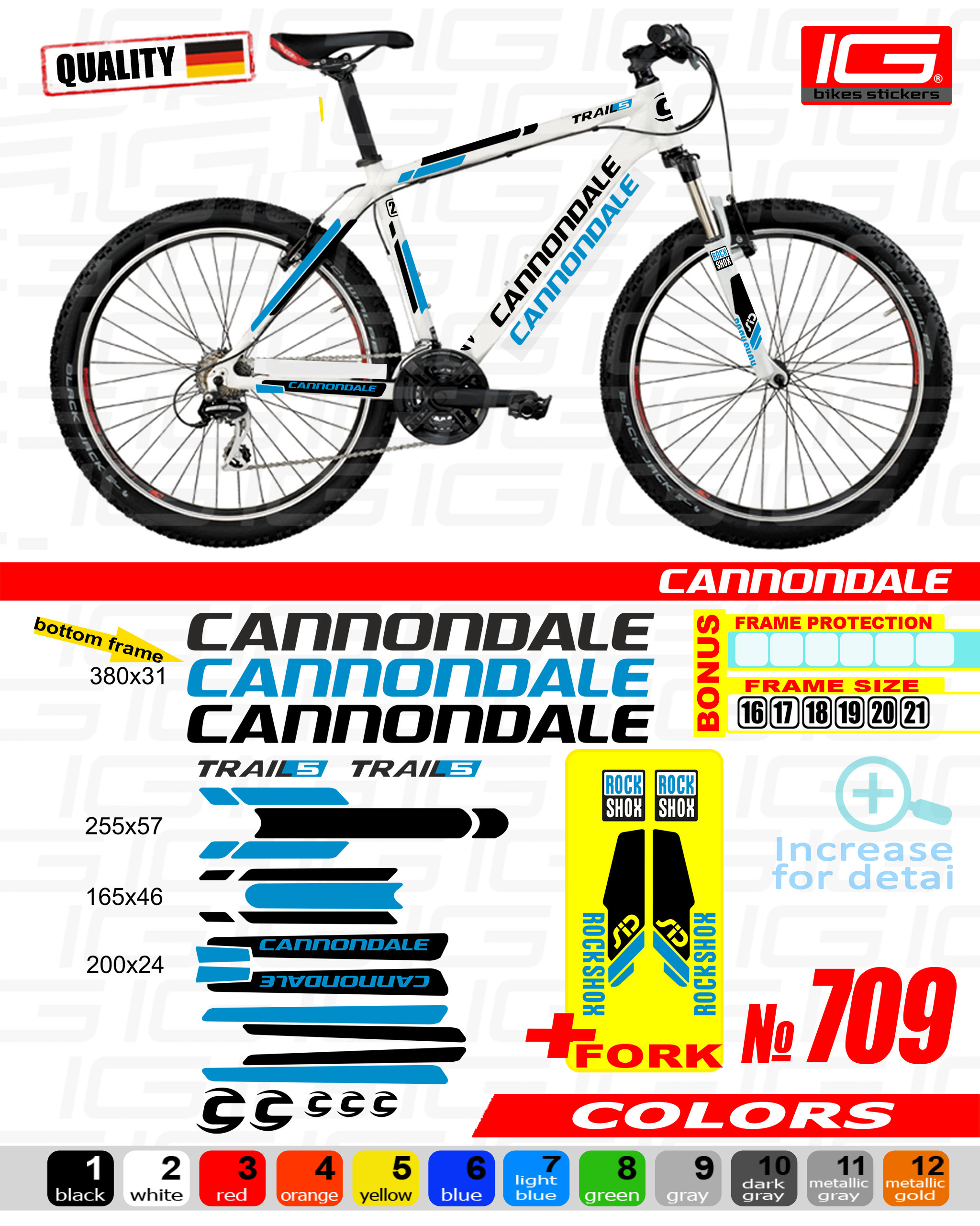 CANNONDALE Sticker Bike Frame Autocollant Bicycle Mountain