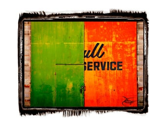 10 x 13 Print Special Full Service, Green and Orange Americana Art Print by Jonah Gilmore
