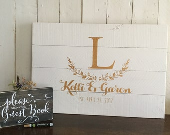 Rustic Wedding Guest Book - Wedding Guestbook