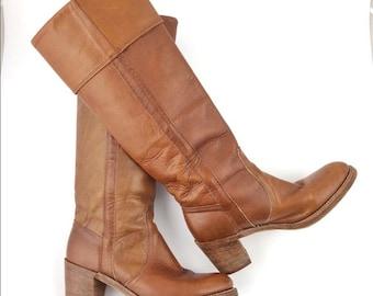 Vintage Frye Women's Campus Cuff Boots Size 7B