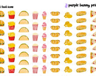 Fast Food // Planner Stickers!