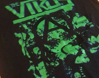 S the Virus blue and green double print tshirt