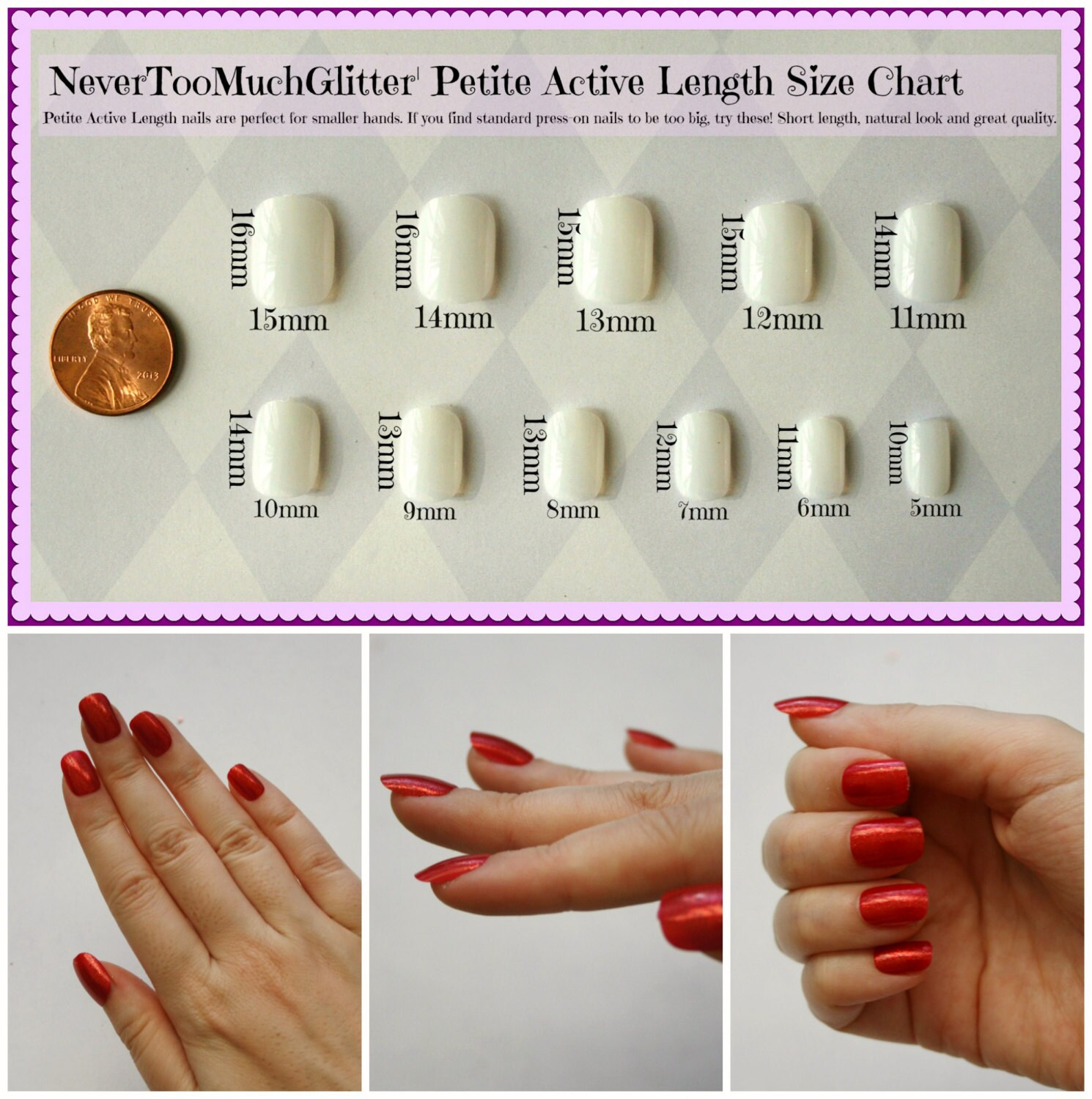 Short Fake Nails | Red Nude Black White Nails | Short Press On Nails ...