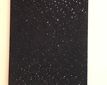 Black sequins wall art