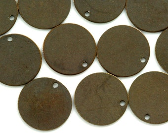 30 Pcs Antique Brass Tone Brass 20 mm Circle tag Charms ,Findings 61AB-40