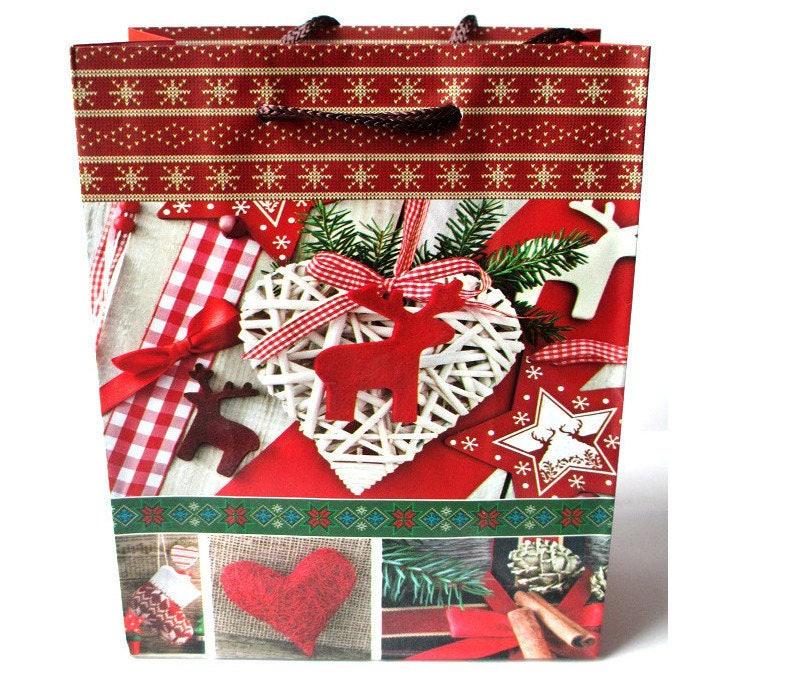 1 pochette sac cadeau no l 12x15x55cm. Black Bedroom Furniture Sets. Home Design Ideas
