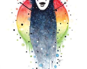 No Face Spirited Away Watercolour Print