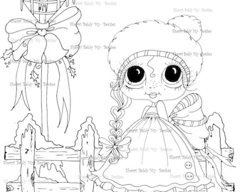 INSTANT DOWNLOAD Digi Stamps Big Eye Big Head Dolls Digi Bestie IMG100011 By Sherri Baldy