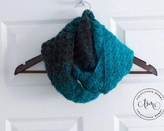 PDF Crochet Pattern - Simply Aqua Infinity Scarf