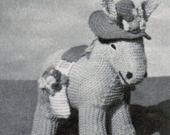 Donna the Donkey and Foal Knitting Pattern PDF / Knitted Donkey Pattern
