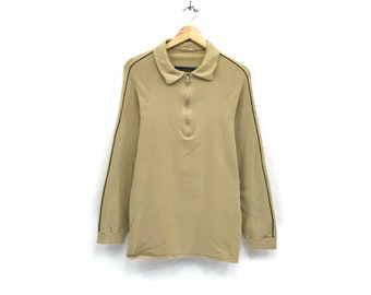 Givenchy half zip long sleeve polos shirts sweatshirts / fashion style / streetwear / medium size / casual wear