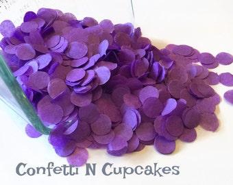 Tissue Paper Confetti, purple circle confetti, purple party decor, table sprinkle, party confetti, 1st birthday decor, invitation confetti