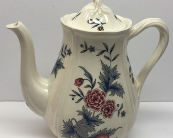 Ironstone Coffee Server 5 cup Wedgwood Williamsburg Potpourri