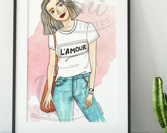 French Chic Decor, Fashion Wall Art, Amour, Paris Fashion, Home Decor