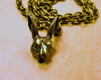 Brass Rabbit Necklace