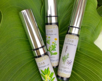 Organic Herb Mascara, 99% Food Grade, Gluten-free, Mica and Oxide Free, Nourishing, Strengthening
