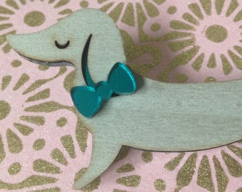 Dog Lovers Gifts, ,Dog, Dog jewellery,Dog brooch,Dog pin, Dog jewelry , sausage dog, dachshund ,Sausage dog gifts,wooden jewellery