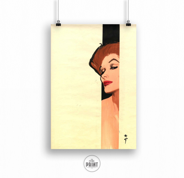Fashion illustration for Dior Rene Gruau Fashion