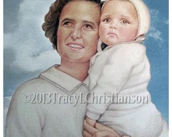 St. Gianna Molla Catholic Art Print Pro-Life Patron Saint #4094