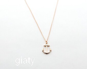 Rose Gold Anchor Necklace, Anchor Necklace, Dainty Necklace, Best Friend Necklace, Bridesmaid Necklace, Mother's Day Gift